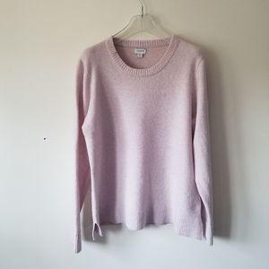 J. Crew sweater wool blend blush pink sz XL